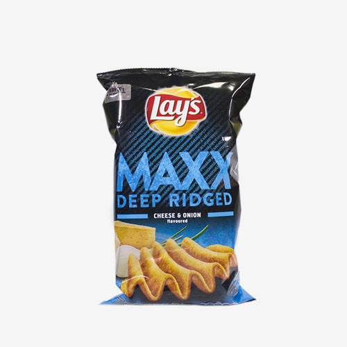 Lays Max - Syrovo-cibuľové smažené zemiakové lupienky 130g