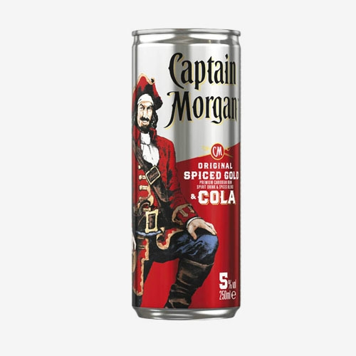 Captain Morgan & Cola 5% - 250 ml