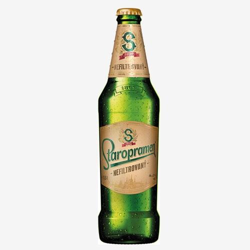 Staropramen pivo nefiltrované - sklo 500 ml