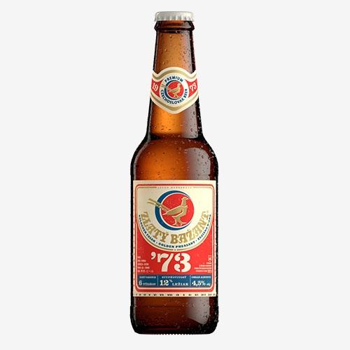 Zlatý Bažant ´73 pivo - sklo 330 ml