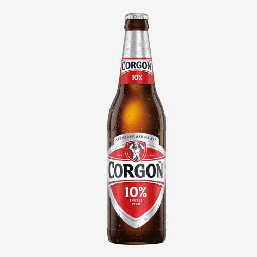 Corgoň pivo 10% - sklo 500 ml