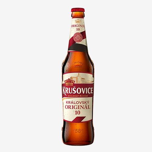 Krušovice Královský originál pivo 10° - sklo 500 ml