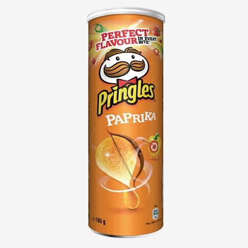 Pringles s príchuťou papriky pikantné chipsy 165g