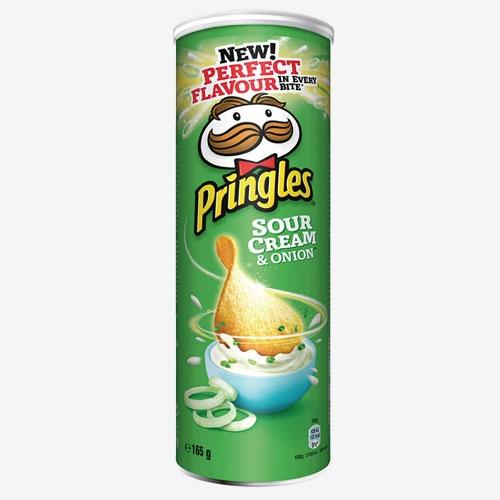 Pringles Sour Cream&onion chipsy 165g