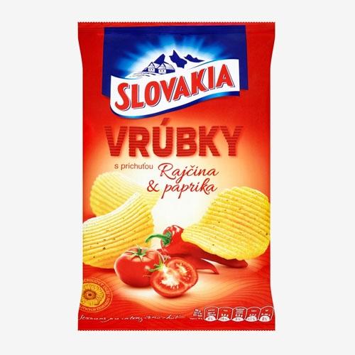 Slovakia Vrúbky s príchuťou rajčina a paprika 130g