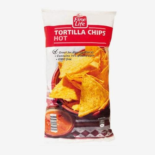 Fine Life Tortilla chips pálivé 200g