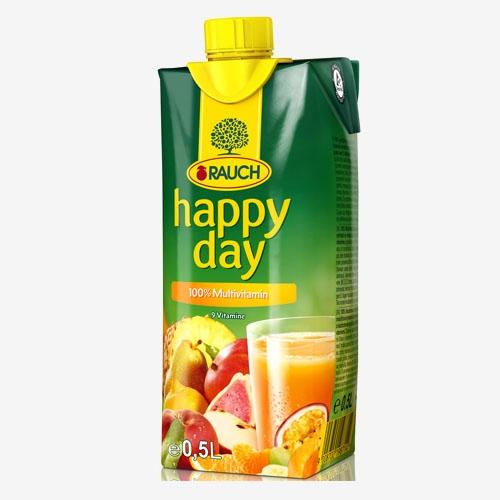 Happy Day Multivitamín 100% džús 500 ml