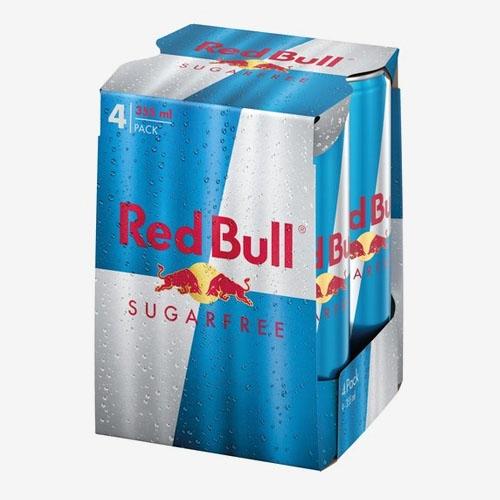 Red Bull energetický nápoj bez cukru plech 4x 355 ml