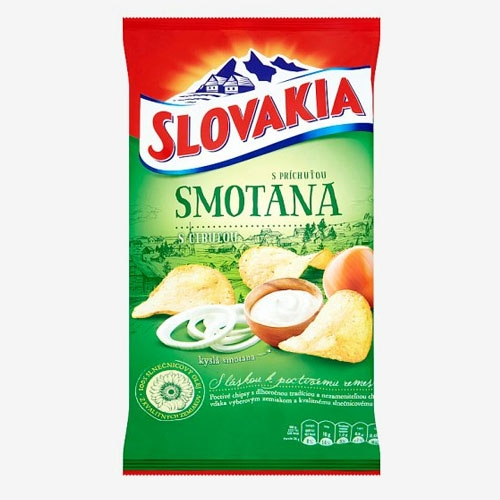 Slovakia Chips smotana a cibuľka 130g