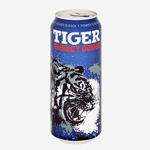 Tiger Energy drink 500 ml plech