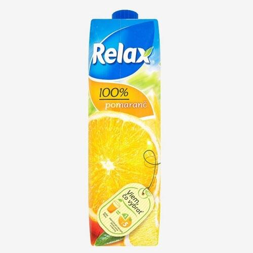 Relax džús 100% pomaranč 1 L