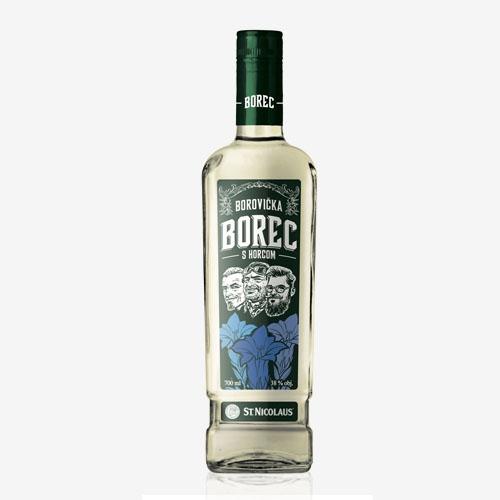 St. Nicolaus Borec borovička s horcom 38% - 700 ml