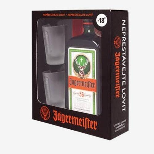 Jägermeister 35% - 700 ml + 2 poháre