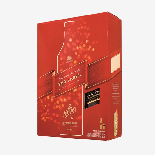 Johny Walker Red Label 40% - 700ml + Black Label 40% - 200ml