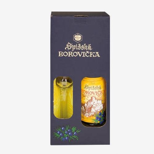 Spišská borovička 40% 1x700 ml + pohár