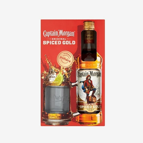 Captain Morgan Spiced 35% - 700 ml + pohár