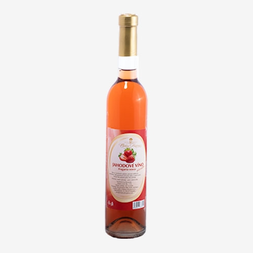 Jahodové víno polosladké Château Krupina - 500 ml