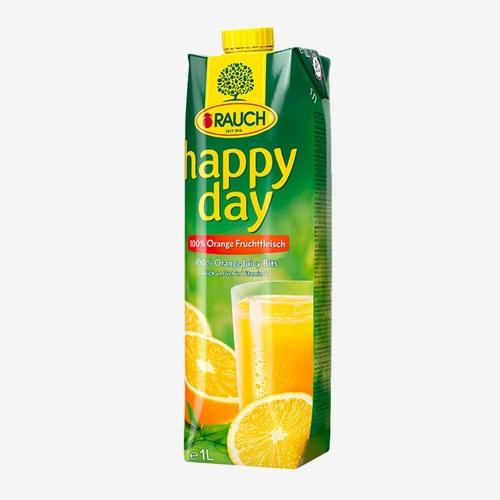 Rauch Happy Day džús pomaranč s dužinou 100% 1L